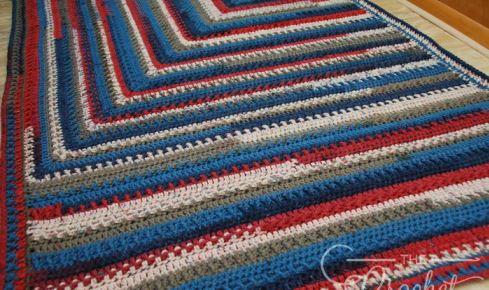 Patriotic Chunky Crochet Weighted Blanket Allfreecrochetcom