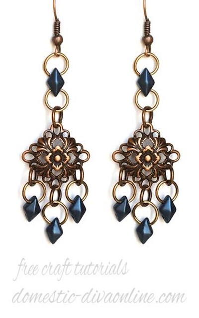 Silky Blue Diamonduo Earrings