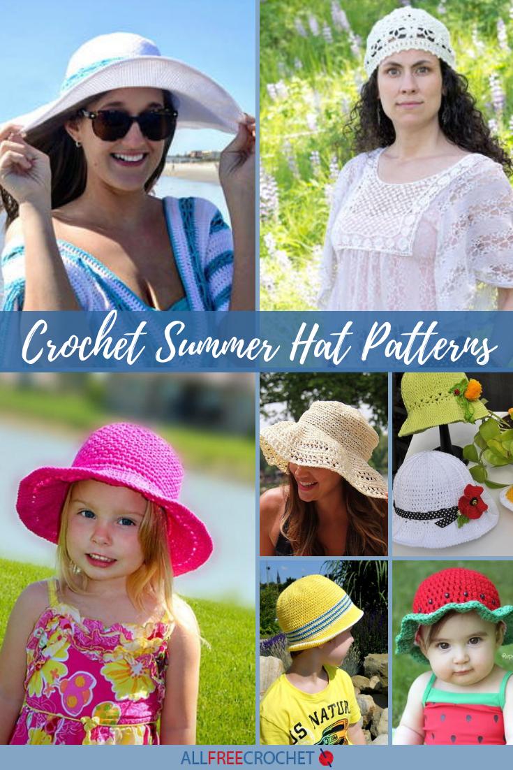 2c2b15ee4 41+ Crochet Summer Hat Patterns (Easy!) | AllFreeCrochet.com