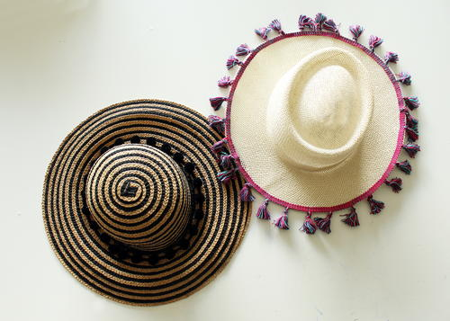 Make A No Sew Tassel Beach Hat
