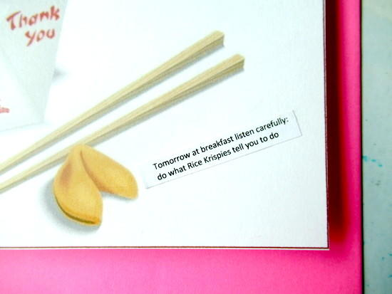 graphic regarding Fortune Cookie Printable titled Free of charge Printable Fortune Cookie Card