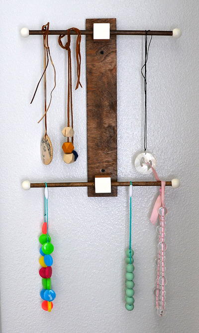 Wood Modern Jewelry Holder