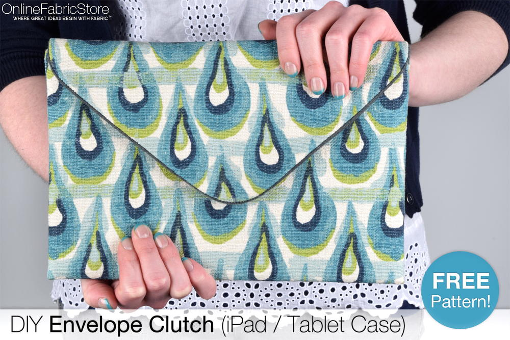 How To Make An Envelope Clutch Ipad Tablet Case Allfreesewing Com