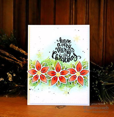 Pretty Poinsettia DIY Christmas Card