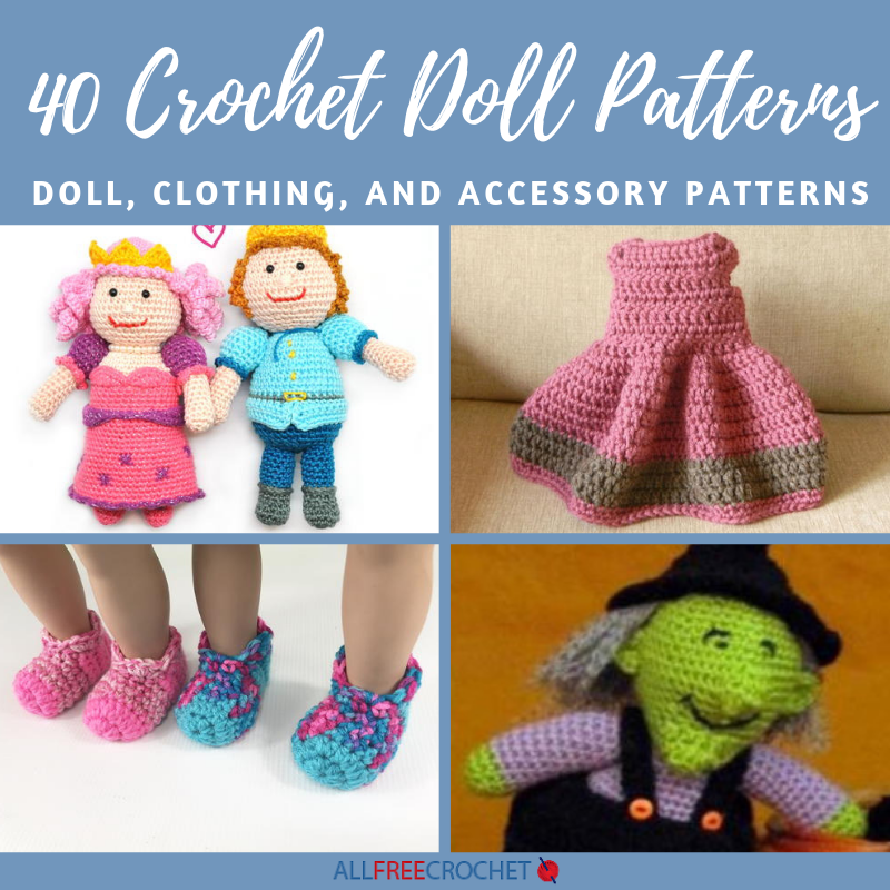 40 Crochet Doll Patterns (Clothing