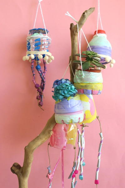 Upcycled Plastic Bottle Decor Items
