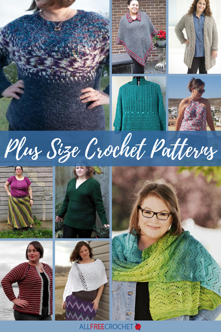 40 Plus Size Crochet Patterns Xs5xl Allfreecrochet Com