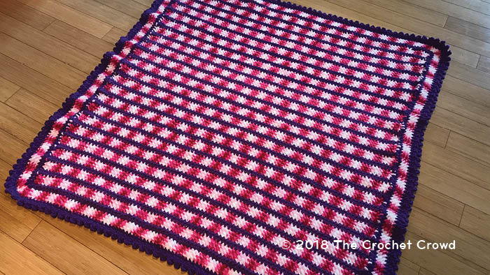 Sweet Pink Crochet Blanket Pattern | AllFreeCrochet com