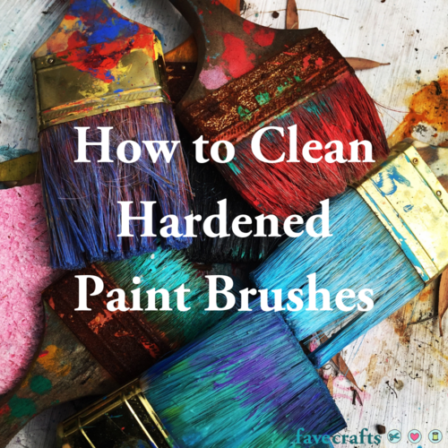 How to Clean Hardened Paint Brushes