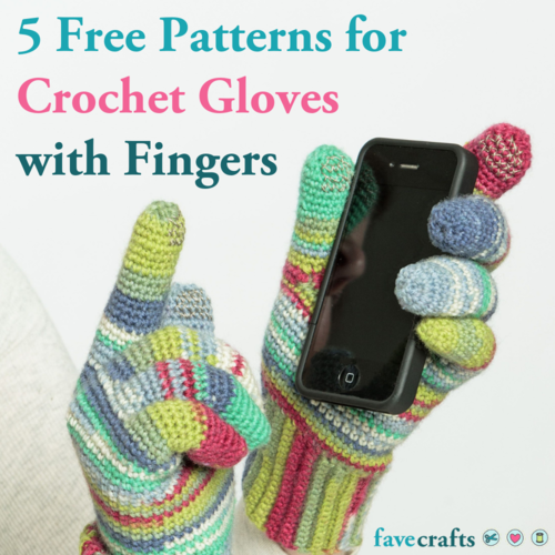 5 Free Patterns for Crochet Gloves with Fingers