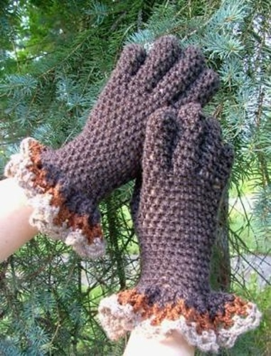 Gloves with Ruffles