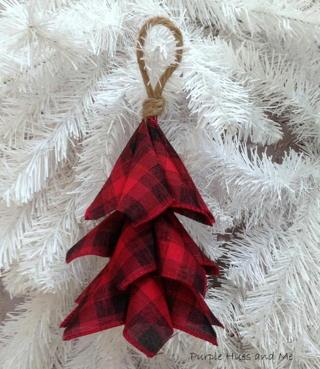 Buffalo Plaid Ribbon Tree Ornament Favecrafts Com