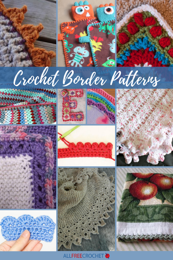 30 Crochet Edging And Borders Allfreecrochet Com