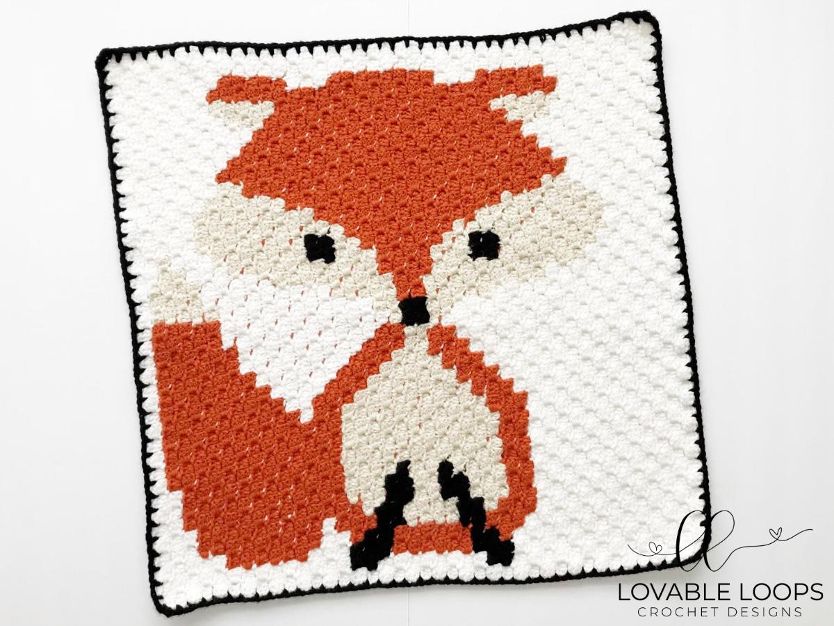 Fox C2c Baby Blanket Allfreecrochet Com