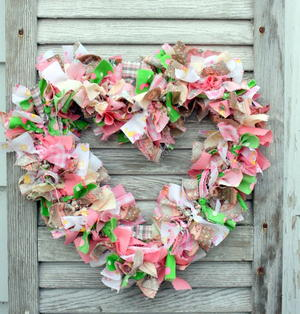 Country DIY Fabric Wreath Tutorial