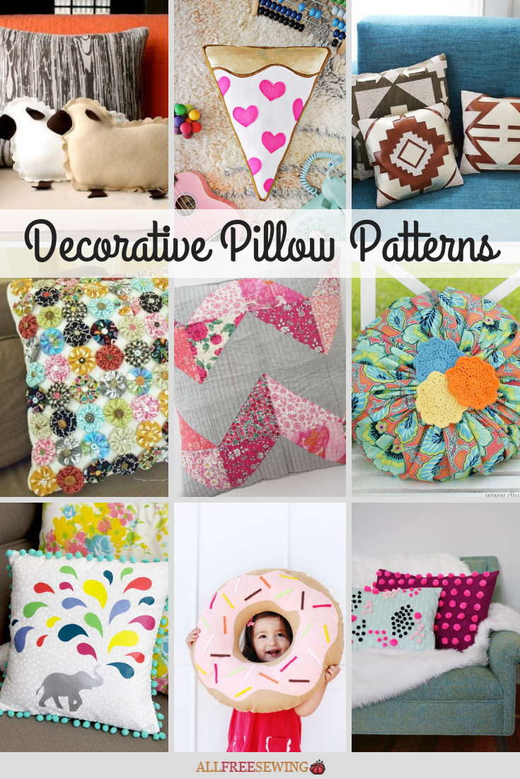 60 Decorative Pillow Patterns Allfreesewing Com