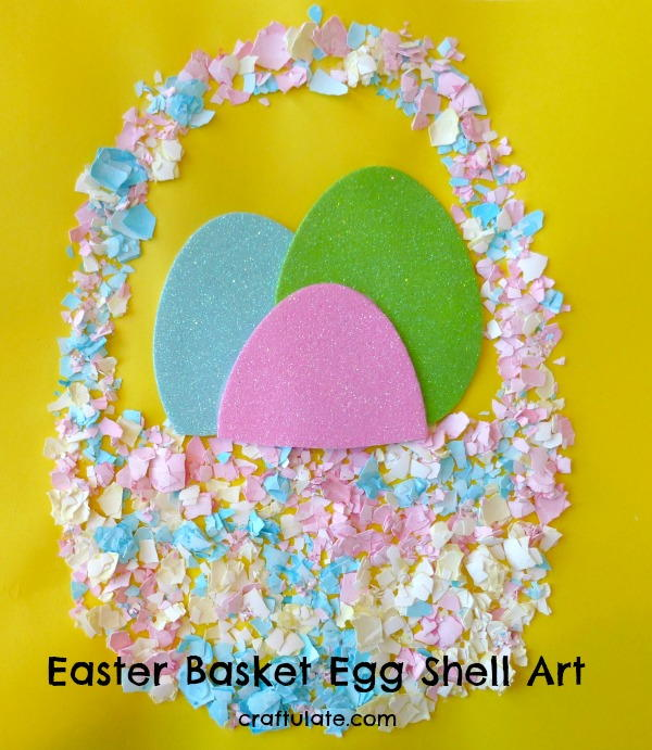 Easter Basket Egg Shell Art