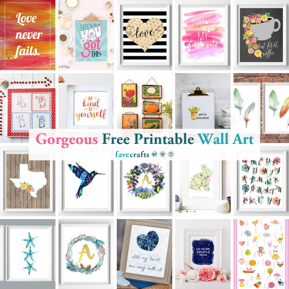 94 Gorgeous Pieces Of Free Printable Wall Art Favecrafts Com
