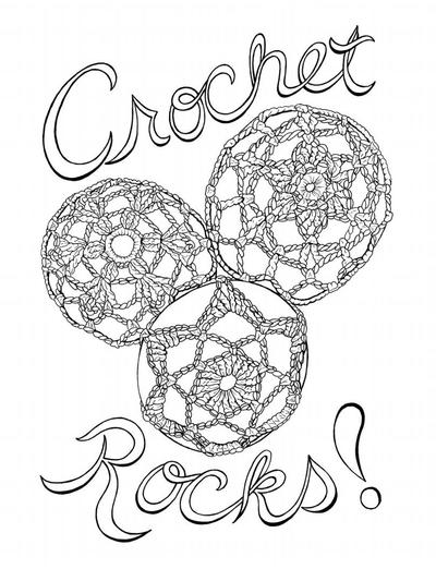 Crochet Rocks Coloring Page