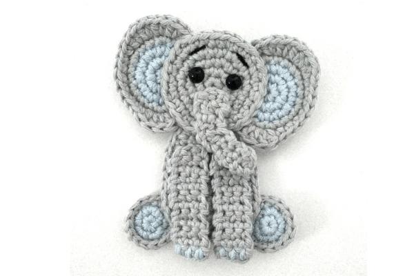 Filet Elephant Blanket Crochet Pattern | Häkelelefanten muster ... | 400x600