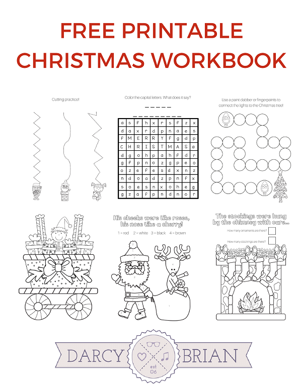 image about Printable Christmas Games named Printable Xmas Game titles Coloring Workbook