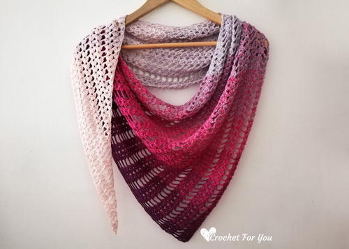 Crochet Shell & Lace Shawl