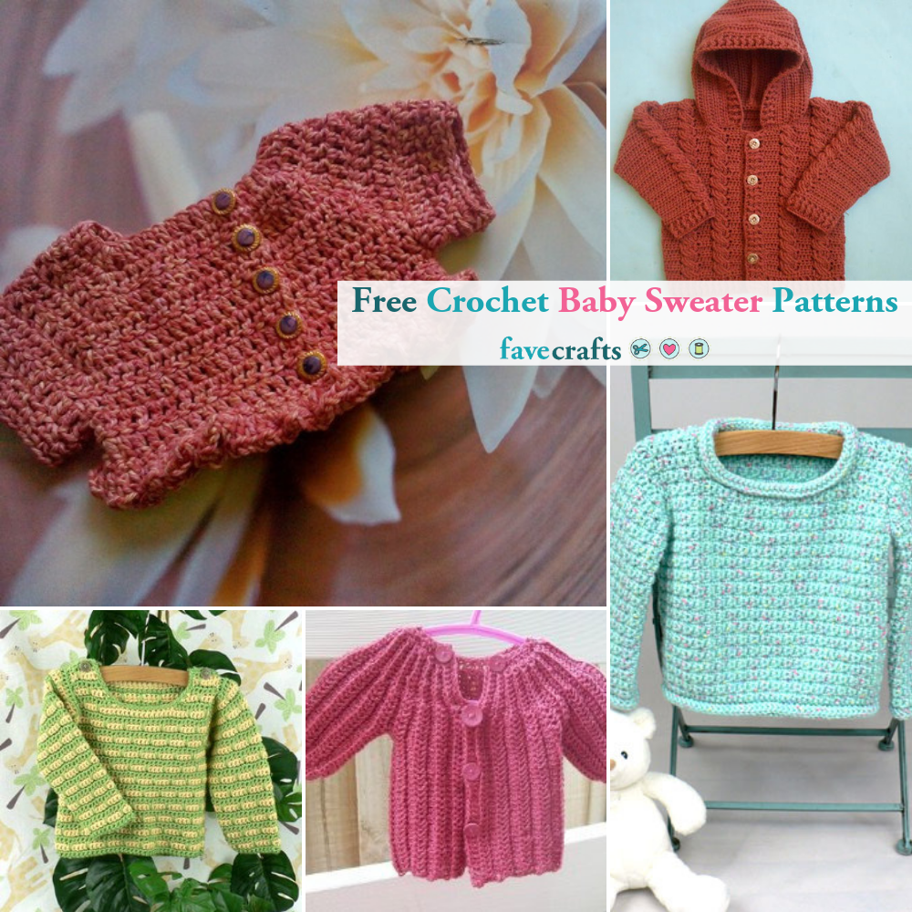 10 Free Crochet Baby Sweater Patterns And Pattern Sets