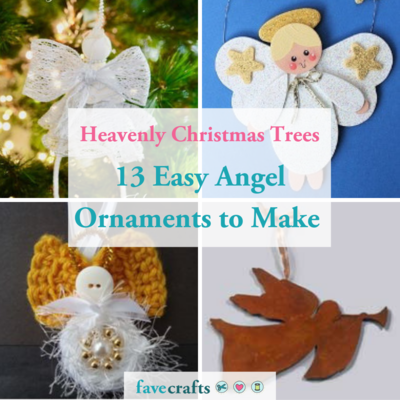 13 Easy Angel Ornaments to Make