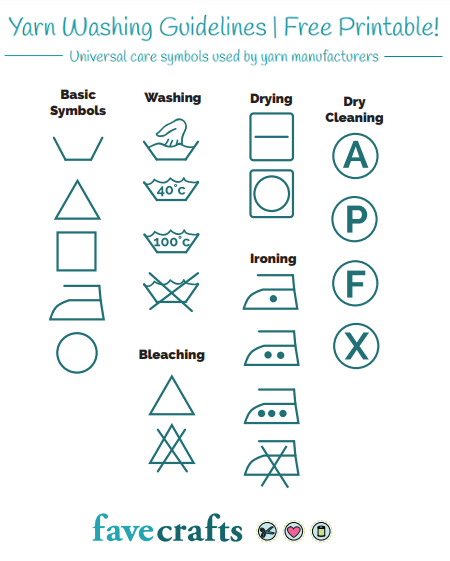 Yarn Washing Symbols