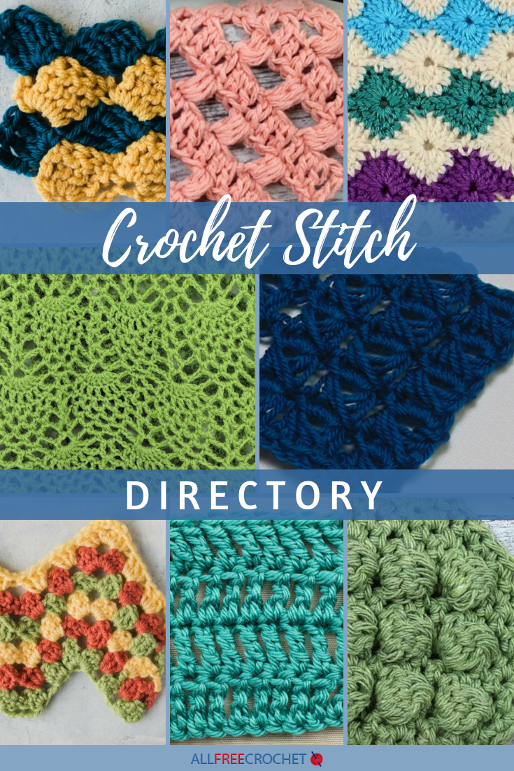 Crochet Stitch Directory Directory For 26 Crochet Stitches Allfreecrochet Com