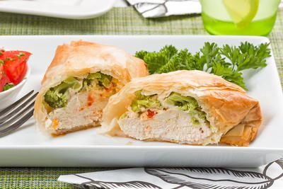 Phyllo-Wrapped Tuscan Chicken
