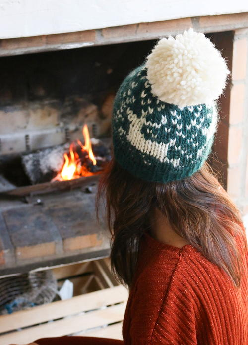 Xmas Beanie Knitting Pattern