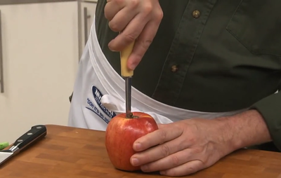 How to Use an Apple Corer Step 1