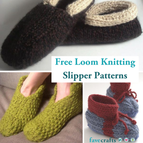 5 Free Loom Knitting Slipper Patterns