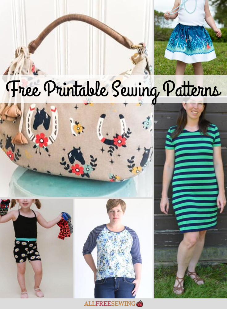 45 Printable Sewing Patterns Free Pdfs Allfreesewing Com
