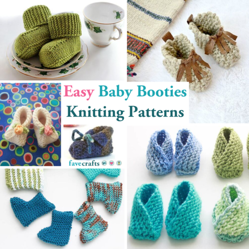 7 Easy Baby Booties Knitting Patterns How to Knit Baby Booties