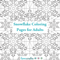 9 Snowflake Coloring Pages for Adults