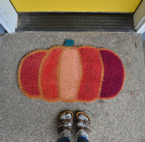 Pumpkin Door Mat