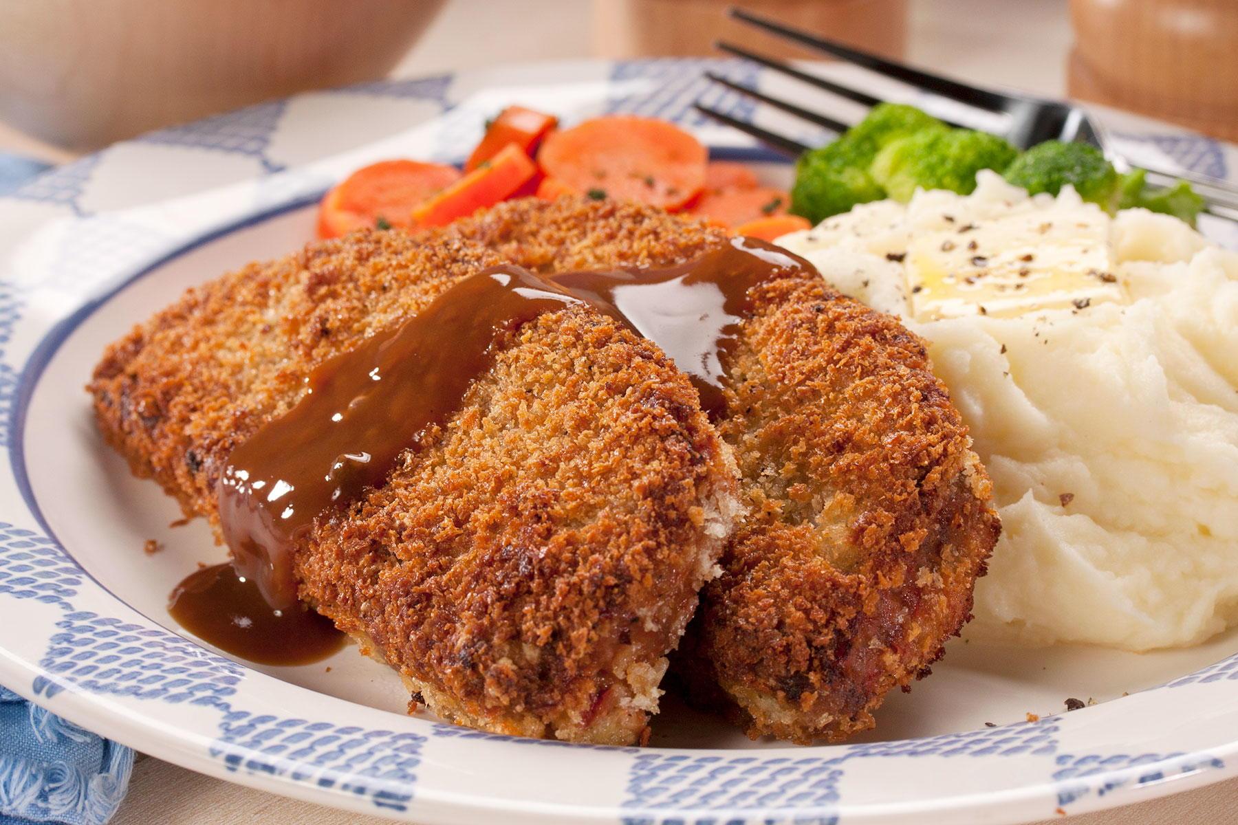 Crispy Fried Meatloaf Mrfood Com