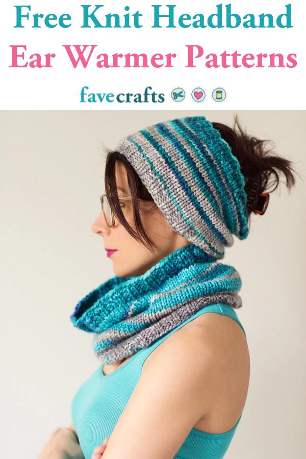 8 Free Knit Headband Ear Warmer Patterns | FaveCrafts.com