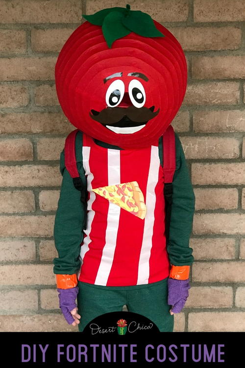 DIY Fortnite Tomatohead Costume
