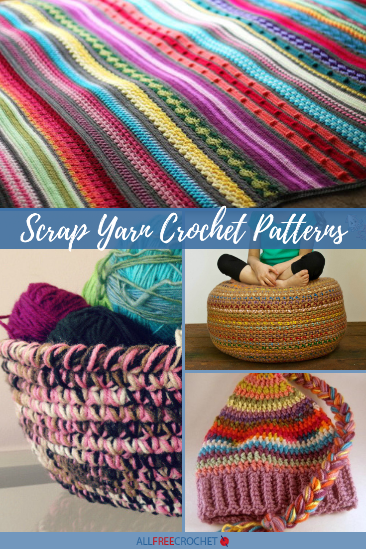 Crochet Blanket Using Scrap Yarn