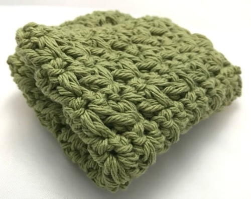 Mixed Cluster Stitch Dishcloth