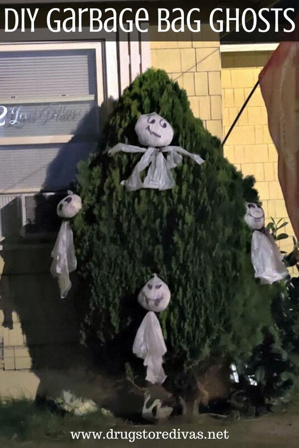 DIY Garbage Bag Ghosts