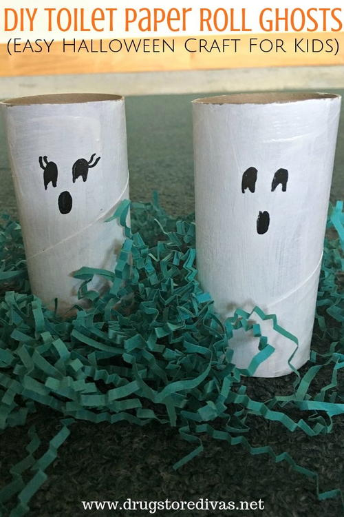 DIY Toilet Paper Roll Ghosts