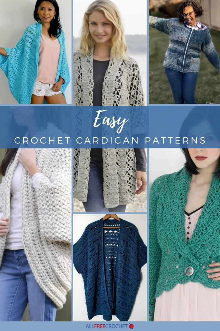 56 Easy Crochet Cardigan Patterns Allfreecrochet Com