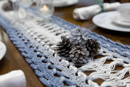 Hairpin Lace Table Runner