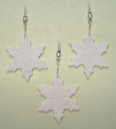 Embossed Snowflake Ornaments