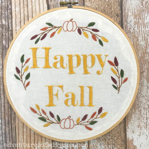 Fall Embroidery Pattern