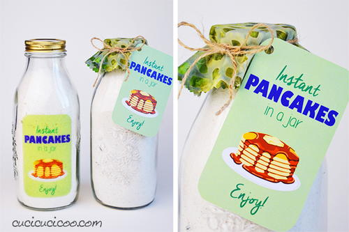 Pancake mix with printable labels